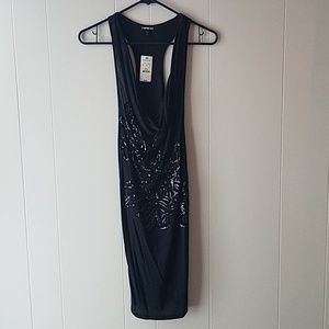Express black dress with sequins. Size M